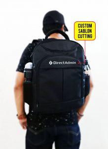 Sablon Custom pada Tas Ransel Laptop